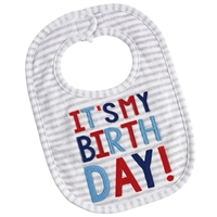 "Baby Boy ""It's My Birthday"" Bib Little-Minnows.com"