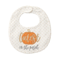 "Girls ""Cutest Pumpkin In The Patch"" Bib Available at Little-Minnows.com"