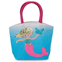 Blue Mermaid Ombre Tote at little-minnows.com