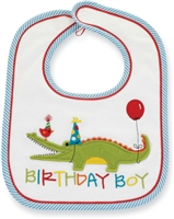 Birthday Boy Bib with Party Gator by Little-Minnows.com