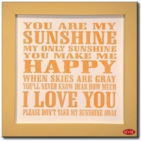 You Are My Sunshine Yellow Framed Sign Available at Little-Minnows.com