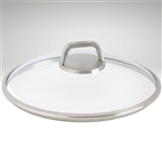 "Diamond Lite Pro, Glass lid, round w/ vented knob, 8"" dia."