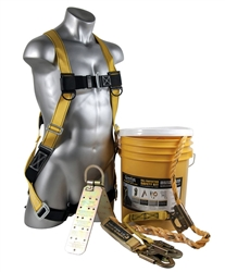 Bucket of Safe-Tie | Bucket of Safety Fall Protection Roofers kit