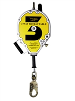 Guardian 3-Way Rescue & Retrieval Self Retracting Lifeline, Steel Snap Hook - 65' | 10981