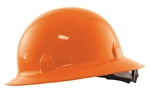 Orange Blockhead Full Brim Hard Hat by Jackson Safety
