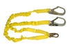 Fall Protection Lanyard - Double Leg Stretch with Rebar Hooks