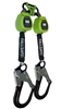 6 foot CLASS A Dual-Leg Web Retractable w/ In-Webbing Bracket and Rebar Hooks - FS-EX10065-W-RBH-BWB