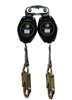 Class A Double Retractable Lifeline - 7 ft. with snap hooks
