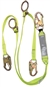 FSP Extreme Dual Leg Tie-Back Shock Lanyard with Adjustable ring - Web | FS456