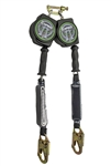 10' Leading Edge Dual Leg Cable Retractable w/ Alum. Rebar Hooks & EZ connector-CLASS A - SW-8008-10-ALU-RBH-DL