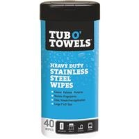 Tub O' Towels, Stainless Steel Wipes
