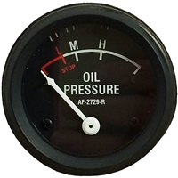 Oil Pressure Gauge (0-55 PSI) - Dash mounted Black Face