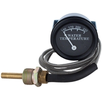 "Water Temperature Gauge Black Face 48"" Lead"