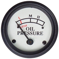 Engine mounted Oil Pressure Gauge (0-25 PSI) -  White Face