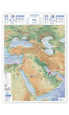 Map | Energy Map of The Middle East & The Caspian