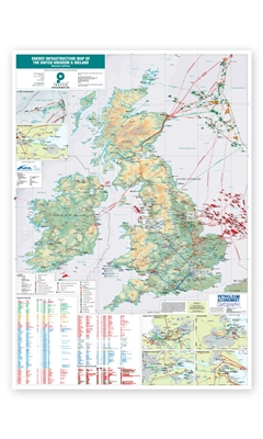Map | Energy Infrastructure Map of the United Kingdom and Ireland