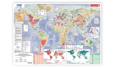 Unconventional Oil & Gas Map of the World