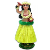 Dashboard Hula Doll - Hula Girl w/ Uli Uli