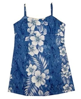 KY's Girls Waikiki Blue Hawaiian Dresses