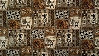 Brown Tapa Cotton Hawaiian Fabric
