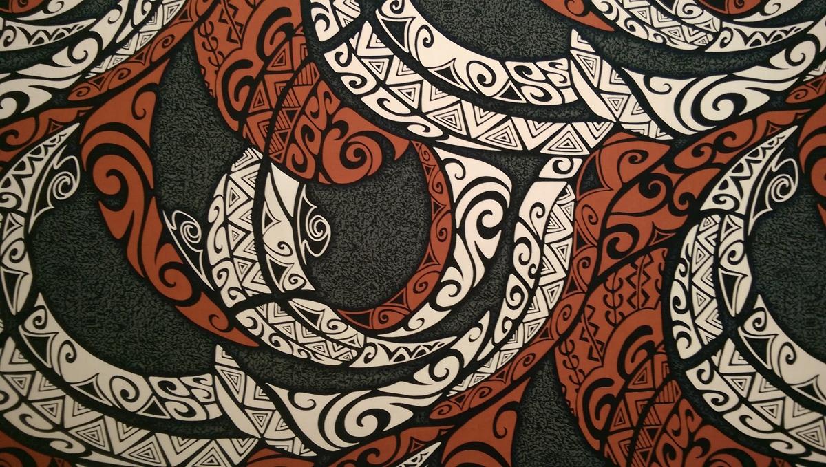 Gray Cotton Tribal Print Fabric