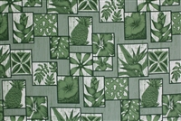Green Sage Cotton Hawaiian Fabric
