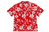 RJC Womens Red Aloha Shirt