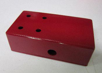 125B Drilled for 4 Knobs in Burgundy