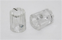 Miniature Fluted Knob in Clear