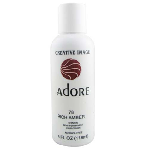 Adore Semi Permanent Hair Color 78 Rich Amber 4oz AdoreHair Amp Skin Prod