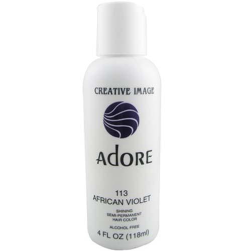 Adore Semi Permanent Hair Color 113 African Violet 4oz AdoreHair Amp Skin