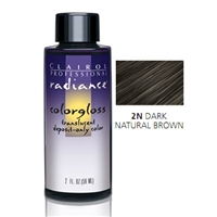 Clairol Radiance Color Gloss #2N Dark Natural Brown 2 oz.