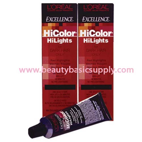 oreal HiColor Highlights for Dark Hair Only - Red 1.24 oz ...