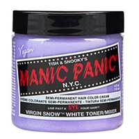 Manic Panic Semi Permanent Hair Color Cream Virgin Snow 4 oz