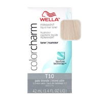 Wella Color Charm Liquid Hair Toner T10 Pale Blonde 1.4 oz