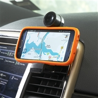 Clip-on Car Vent Cell Phone Holder with Pivoting Tension Grip Car Phone Holder Mount