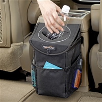 High Road StashAway Console Car Trash Can & Auto Trash Bag
