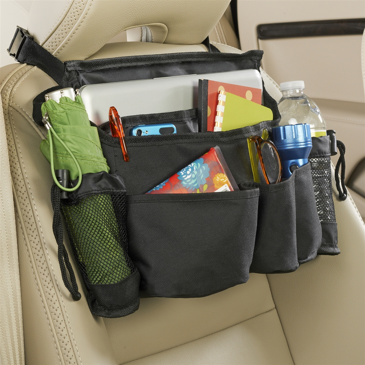 high road swingaway car seat organizer front seat organizer. Black Bedroom Furniture Sets. Home Design Ideas