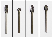 "Carbide Burr 1/8"" Set of 4 Head Shapes"