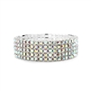 5-Row Stretch AB Rhinestone Prom or Bridesmaid Bracelet<br>1009B-AB