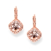 Tailored Earrings in Rose Gold for Wedding or Prom<br>209E-RG
