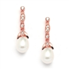 Freshwater Pearl Rose Gold Vintage Earrings<br>343E-RG