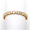 Spectacular Multi Ovals Gold Cubic Zirconia Wedding or Pageant Bracelet<br>4125B-G-6