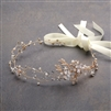Best-Selling Handmade Bridal Headband with  Painted Gold Vines<br>4386HB-I-G