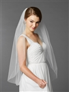 Top Selling Fingertip Length One Layer Cut Edge Wedding Veil<br>4433V-36-W