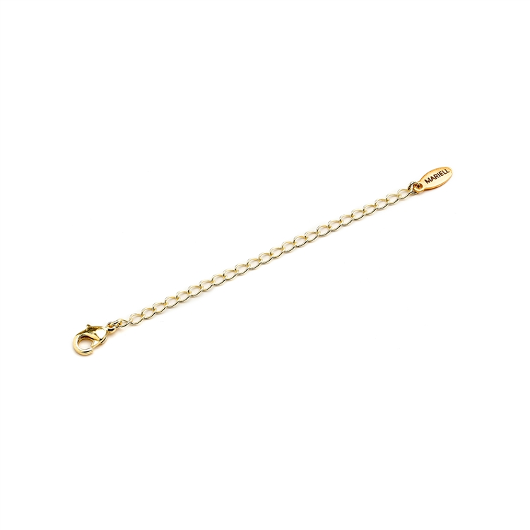 Gold Chain Necklace Extender with Lobster Clasp<br>4578M-G