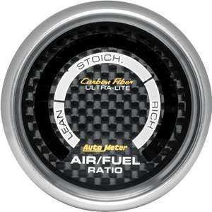 Auto Meter Carbon Fiber Air Fuel gauge