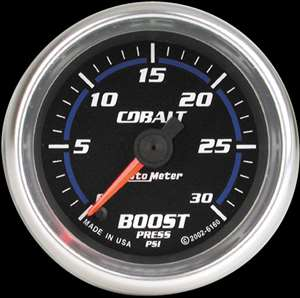 Auto Meter Cobalt Electrical Boost Gauge