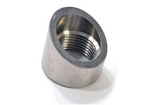 Angled Oxygen Sensor Bung - Stainless Steel
