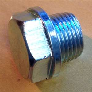 Threaded Hex Bolt for Plugging O2 Sensor Bung - Zinc Plated Mild Steel